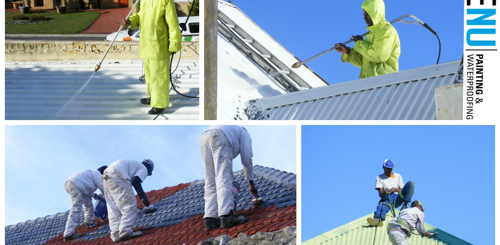 Newly painted roofs