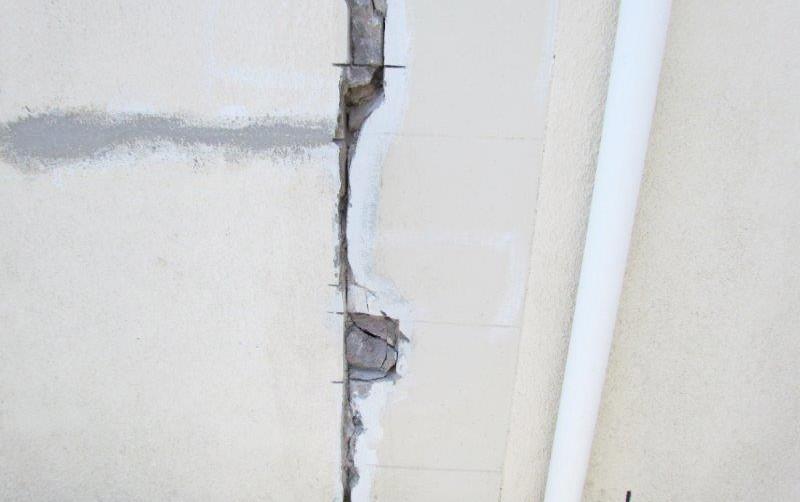 Plaster  repair work prior to structural repair (1)